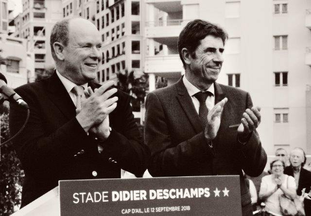 Inauguration stade Didier Deschamps - Cap d'Ail - le 12 sept. 2018