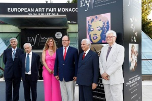 Le Prince Albert II a inauguré le Europeen Art Fair 2016photo JC Vinaj