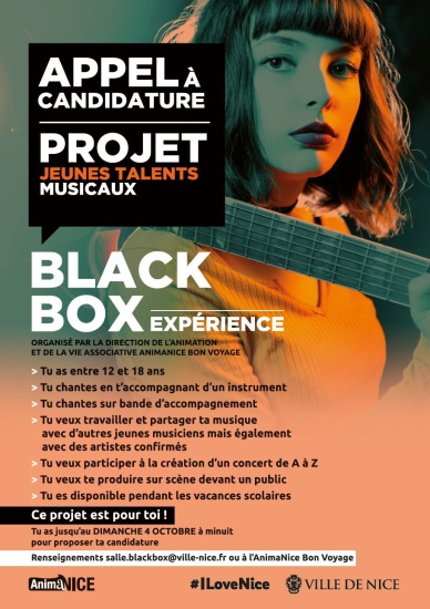 APPEL A PROJET BLACK BOX EXPERIENCE 2020