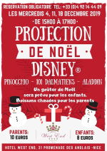 Projection Noel Disney Hotel West End Nice 2109